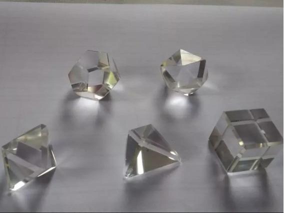 Jogo Sólido Platonico Mesa Radionica Cristal 06 Peças