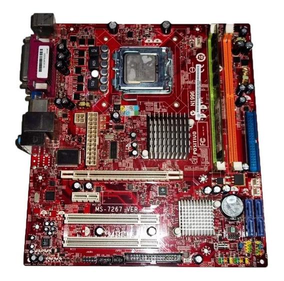 Kit Placa Mãe 775positivo Ms-7267 Ver 4.5+ Intel Celeron 420