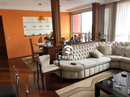 Apartamento Com 3 Dormitórios À Venda, 124 M² Por R$ 750.000,00 - Vila Assunção - Santo André/sp - Ap11997