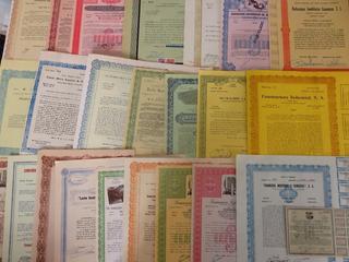 24 Documentos Accion Antigua De Mexico Hermosas Lote