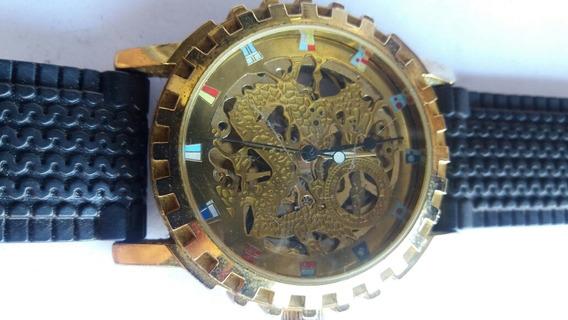 Relógio De Pulso Automático Caverinha Winner
