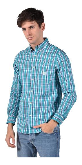 Camisa Stretch Fit Chaps Verde 750735480-35ph Hombre