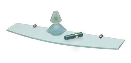 Repisa Curva Cristal Arenado Pulido Reflejar 12 Sin Interes