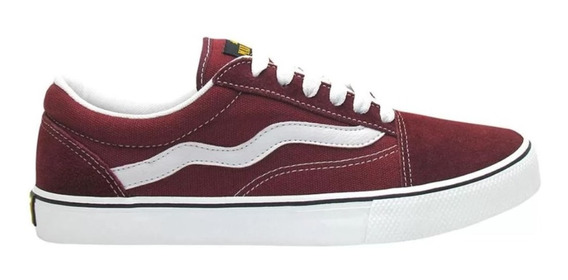 Tênis Mad Rats Old School Casual Vinho Bordo Original