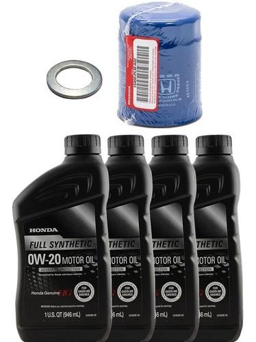 Imagen 1 de 4 de Pack Filtro Aceite + Golilla + 4 Aceites 0w20 Honda Original