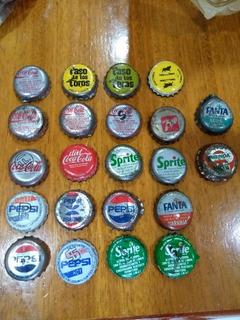 Lote 22 Chapitas Gaseosas Colección Coca Cola - Sprite - Etc