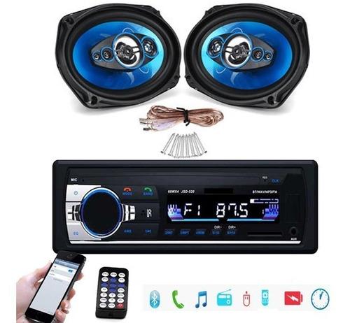Imagen 1 de 5 de Radio Para Auto + Parlantes 6x9 Bluetooth Control