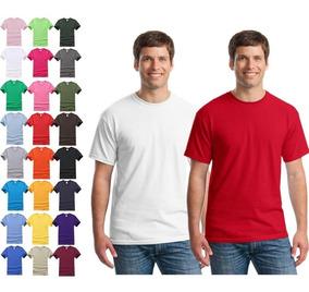 Kit C/10 Camiseta Básica Lisa Várias Cores Camisa Masculina