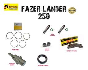 Jogo Aneis Pistao Fazer-lander 250 + Combo