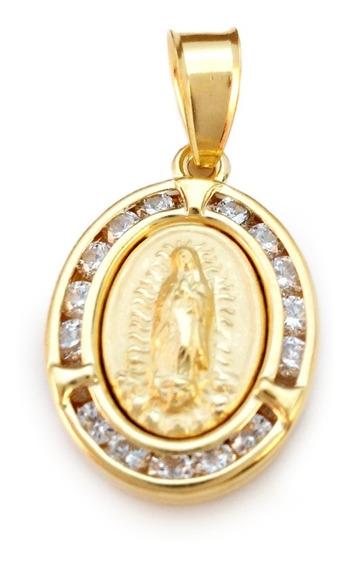 Medalla De Oro Laminado 14 Kilates. Virgen De Guadalupe.