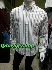 94031bbc37 Camisa De Vestir De Rayas Manga Larga Caballero Gris Blanca