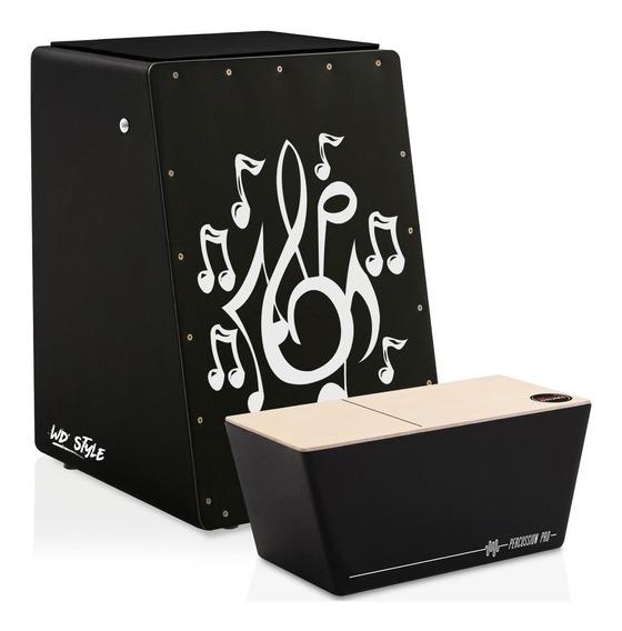 Cajón Wd Style Eletroacústico | Bongô - Personalizáveis