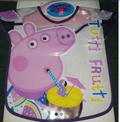 Babero Plastico Peppa Pig