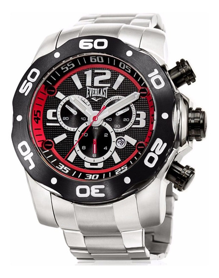 Relógio Everlast Masculino Prata Analógico E596