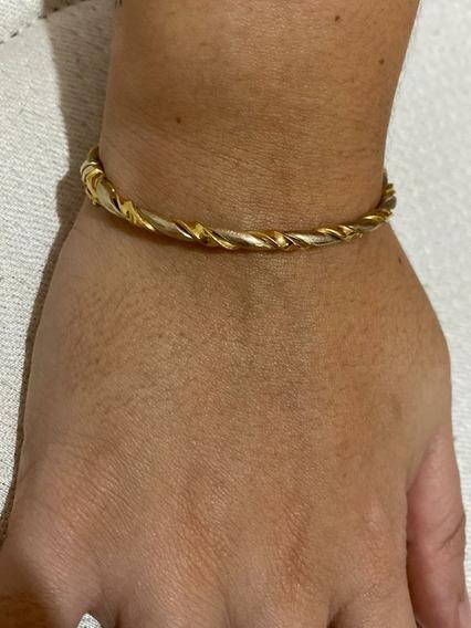 Bracelete Dois Tons De Ouro.