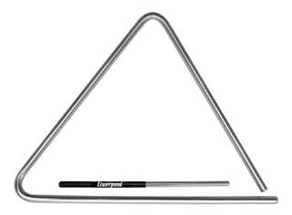 Triângulo Em Aço Cromado 25 Cm Liverpool Tr 25