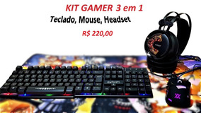 Kit Gamer Teclado , Mouse E Headset