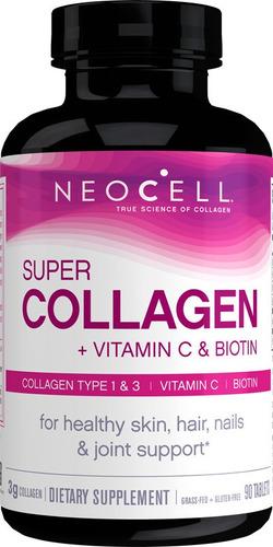 Super Colageno Con Vitamina C Y Biotina 90 Tabs