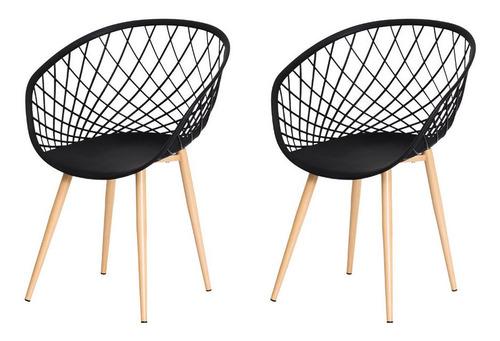 Imagem 1 de 6 de Kit 2 Cadeiras Nova Web Base Metal Sala Cozinha Jantar