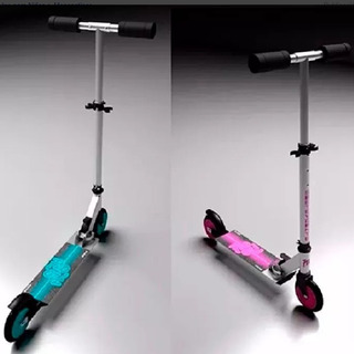 Monopatin Mini Scooter Glow Plegable Base Aluminio Regulable