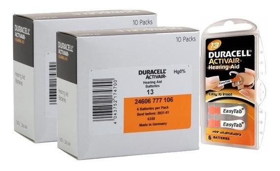 120 Baterias Pilhas Aparelho Auditivo Duracell 13 Pr48