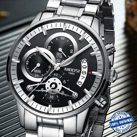 Relógio Nibosi 2309 Masculino Quartz, Luxo Original Na Caixa