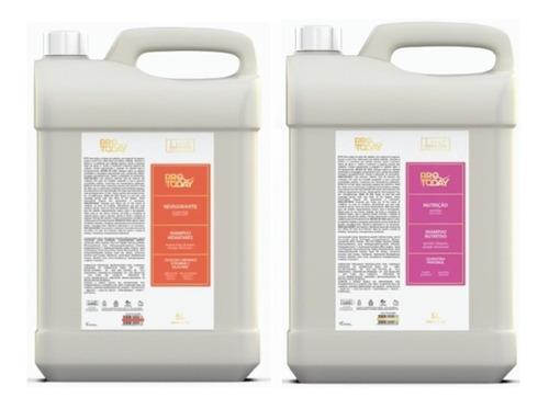 1 Shampoo Revigorante E 1 Shampoo Nutrição Galão 5lt Lissé
