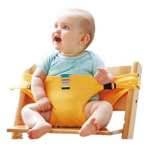 Cinturón De Seguridad Para Sillita De Comer De Bebé Amarillo