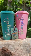 6 Termos Tipo Starbucks Doble Pared Personalizados