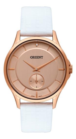 Relógio Orient Feminino Rose Couro Frsc0017 R1bx
