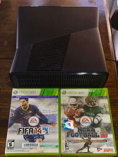 Xbox 360 Slim 250gb + Juegos Originales + Joystick Microsoft