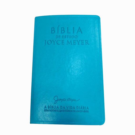 Bíblia De Estudo Azul Tiffany E Prata - Joyce Meyer