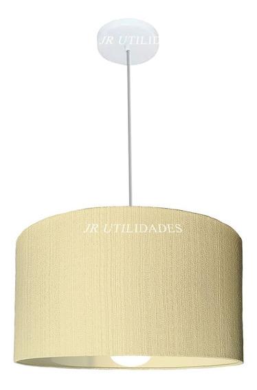 Luminária De Teto Pendente Cupula De 35 X 25 Cm