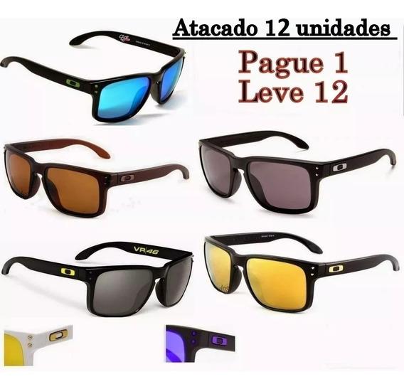 12 Óculos De Sol Masculino Lente Polarizada Varias Core