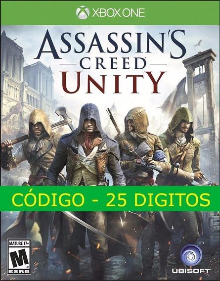 Assassins Creed Unity Xbox One Código 25 Dígitos