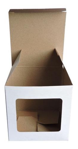 Caja Para Taza Taz1 Ventana Sublimable X 10u Packaging