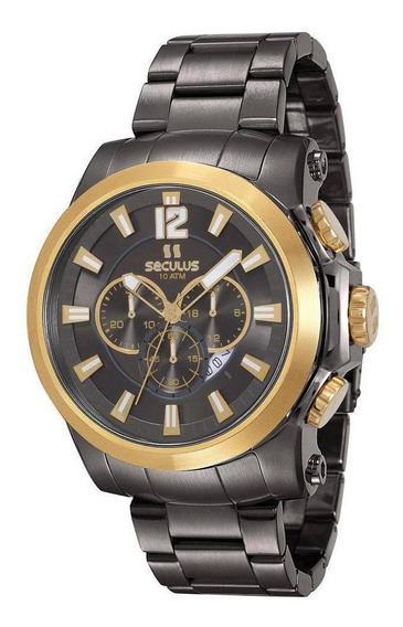 Relógio Seculus Masculino Prime 13025gpsvja1