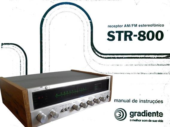 Manual Receiver Gradiente Str-800 - Cópia Digital - 19 Pags.