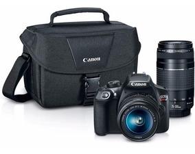 Câmera Canon Eos T6 18-55mm + 75-300mm + Bolsa Kit Premium