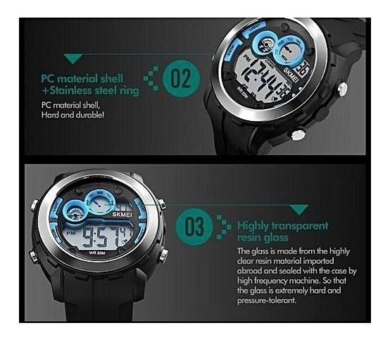 Relógio Skmei 1234 Original Preto - Sport - Queima Estoque