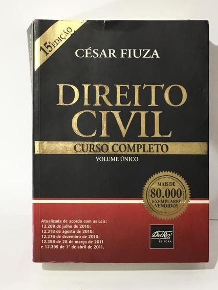 Livro Direito Civil Curso Completo Volume Único César Fiuza