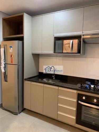 Lindo Apartamento Mobiliado Com 2 Dormitórios À Venda, 63 M² Por R$ 373.000 - Bela Vista - Salto/sp - Ap0483