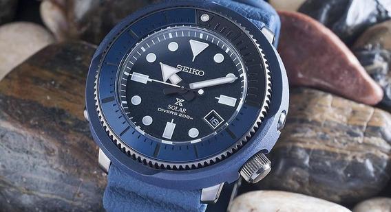 Relógio Seiko Street Series Tuna Solar Sne533p1 Ñ Turtle Skx