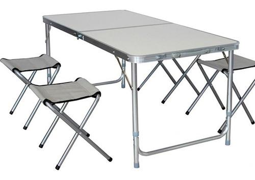1011 Camping Plegable Valija Csillas Mesa Aluminio Art E2H9WIDY