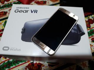 Celular Samsung Galaxy S7 Dourado + Óculos Gear Vr