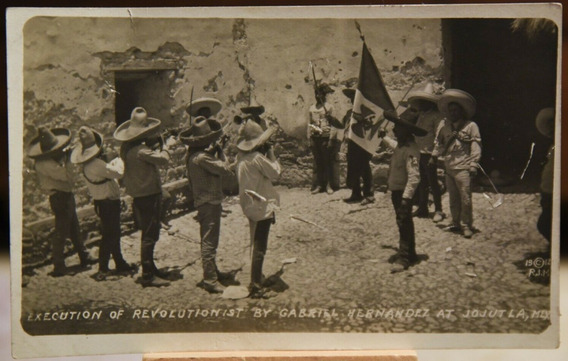 Original Fotografía Postal De Revolucion Mexicana