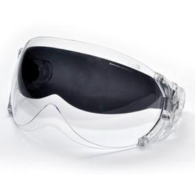 Viseira Dupla Cristal C/ Oculos Fume P/ Capacete Kraft Plus