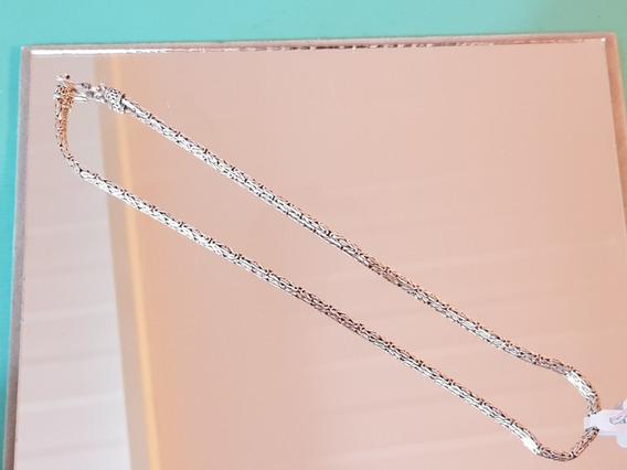 Corrente/colar Prata De Bali De 40cm