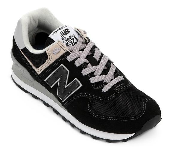 Tênis New Balance Wl574ebb Preto/cinza - Original