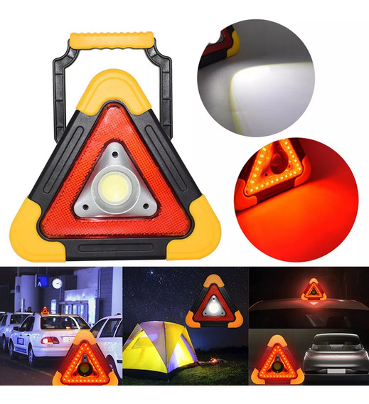 Triângulo De Emergência Segurança Carro Led Solar Automotivo